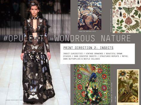 #Patternbank FW 17/18 print direction on #WeConnectFashion: Opulent > Wonderous Nature.