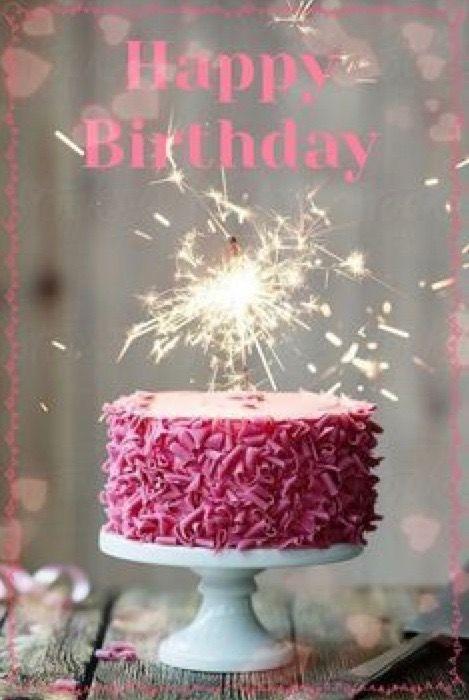 Happy Birthday Cake With Sparkler Candle ScreenShotCrop Edit PersonalizePost