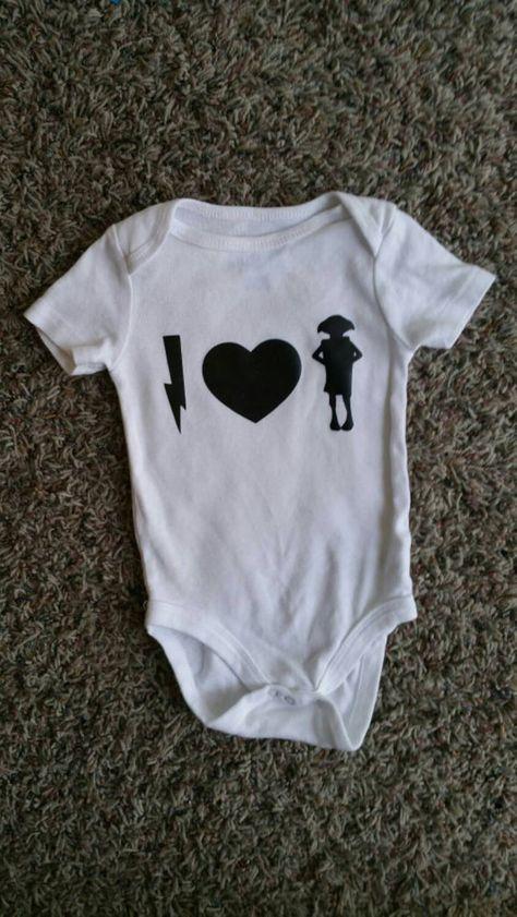 Funny Baby Bodysuit I love dobby Harry Potter Onesie by WordsOfIvy