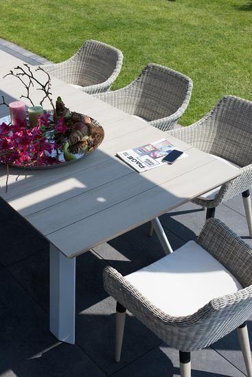Gartentisch Holz Weiß Vintage.Bali Gartentisch 250 Cm Vintage Grau Matt Weiß 6 X Grid