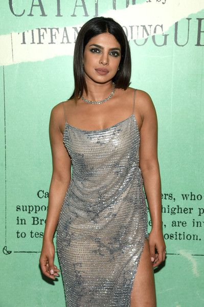 Priyanka Chopra attends as Tiffany & Co. Celebrates 2018 Tiffany Blue Book Collection, THE FOUR SEASONS OF TIFFANY, at Studio 525.