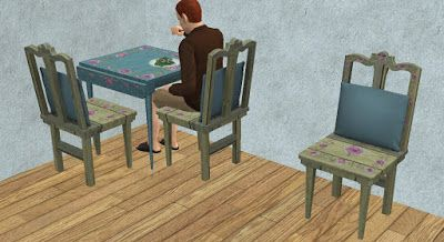 Theninthwavesims The Sims 2 The Sims 3 Store Hand Stenciled Dinin In 2020 Sims 3 Sims 2 Pet Beds
