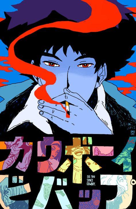 OMOCAT Cowboy Bebop – see you space cowboy – Cowboy Bebop Manga Art, Manga Anime, Anime Art, Wallpaper Animé, Cowboy Bebop Wallpapers, Cowboy Bepop, Cowboy Anime, See You Space Cowboy, Arte Cyberpunk