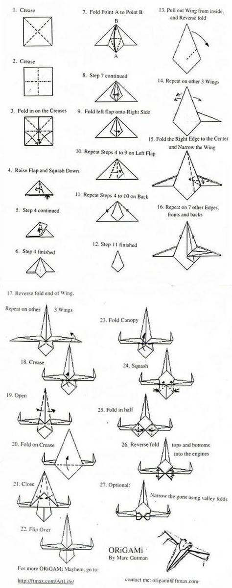 How To Make Origami X Wing From The Star Wars Diagram With Instructions For X Wing Starfighter From Star Wars Saga Origami In 2020 Star Wars Origami Origami Stars