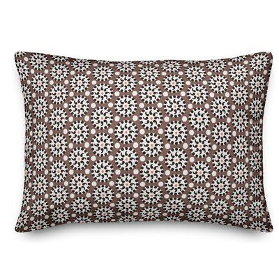 World Menagerie Rickman Polka Dots Lumbar Pillow Floral Throw Pillows Velvet Throw Pillows Wool Throw Pillows
