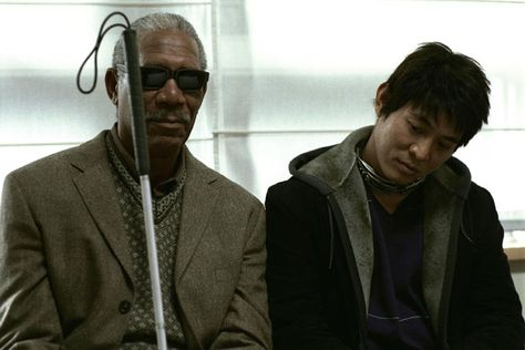 "Jet Li & Morgan Freeman in Unleashed ""Danny the Dog"""
