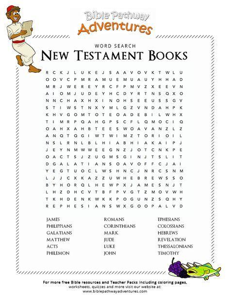 Free Bible Word Search New Testament Books New Testament Books