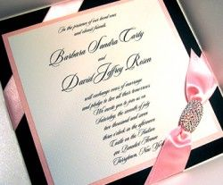Royal Princess Fairytale Wedding Invitations Shimmery Pink and