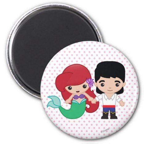 Ariel And Prince Eric Emoji Magnet Zazzle Com Emoji Magnet Disney Emoji Emoji Gifts