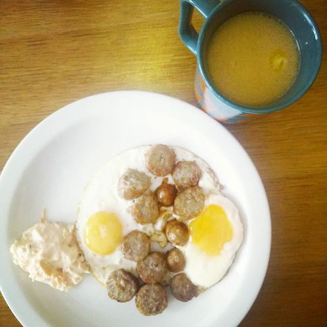 Instagram post by lowcarb/cleaneating/sugarfree • Oct 4, 2015 at 11:09am UTC--Fried eggs with sausages cheesy coleslaw and tea with butter and coconut oil (just a bit)…. #keto #lchf #lowcarb#eggs#sausages #glutenfree #realfood #primal #protein #sugarfree #breakfast #brunch #lunch #dinner #snack #paleo #healthy #health #instafood #food #foodporn #eat #eatwell #diet #organic #eatcleantraindirty #fitness #exercise #gym by healthvigilante You are in the right place about chicken coleslaw  Here we o