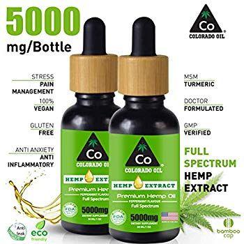 Amazon com: THE COLORADO CO   Hemp Oil 5000mg : Hemp Oil for