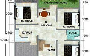 Gambar Denah Rumah 8x12 Kamar 3 Denah Rumah Rumah Dan Rumah Minimalis