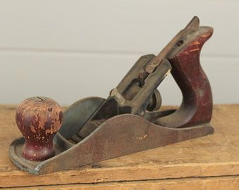 Old Antique Woodworking Tool Smoothing Plane Wood Cabinetry Wooden Signed