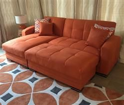 Kubo Rainbow Orange Sectional Sofa By Istikbal Furniture Sectional Sofa Microfiber Sectional Sofa Modern Sofa Sectional