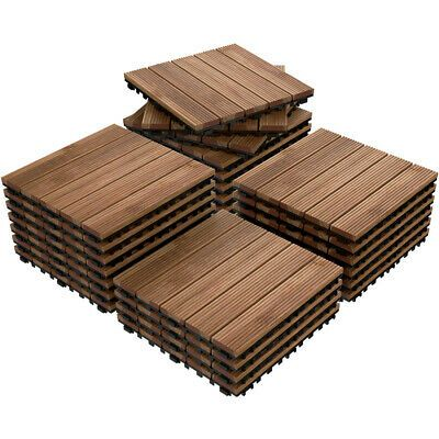 12x12 Patio Pavers Tiles Interlocking Wood Flooring Deck Tiles Outdoor 27pcs In 2020 Patio Tiles Wood Patio Patio Flooring