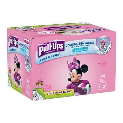 Huggies Pull Ups Girls Cool Learn Training Pants Size 2t 3t 74ct Huggies Pull Ups Training Pants Pull Ups Training Pants