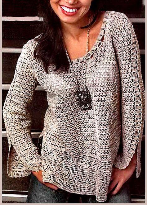 Womens Crochet sweater crochet blouse crochet by BANDofTAILORS - Crocheting Journal
