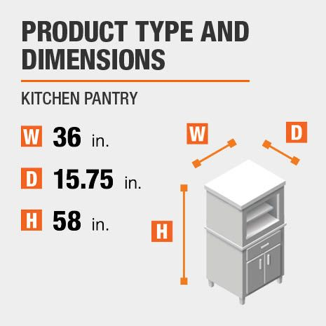Stylewell Stylewell Ivory Wood Transitional Kitchen Pantry 36 In W X 58 In H Sk19311ar1 V The Home Depot In 2020 Black Kitchen Storage Kitchen Pantry Black Kitchen Storage Cabinet