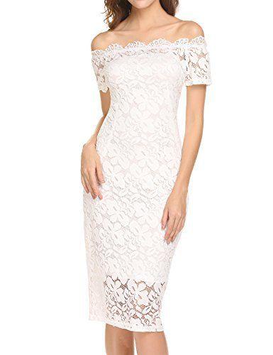 Womens Short Sleeve Floral Lace Bodycon Dress Ladies Scalop Edge Midi Dress