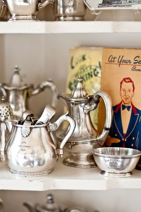 XL Super Belle Sur-Pot Pot De Fleurs maison de campagne shabby deco céramique vase argent