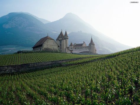 Old German Castle Countryside Wallpaper English Countryside Switzerland Mountains
