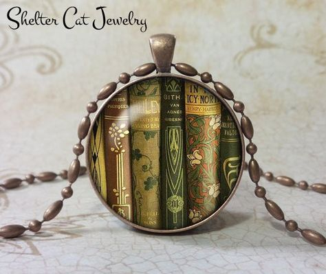 6be90f7092a Library Book Necklace - 1-1 4
