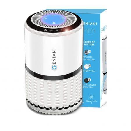 Geniani Home Air Purifier Air Purifier Cool Desktop Home Air Purifier