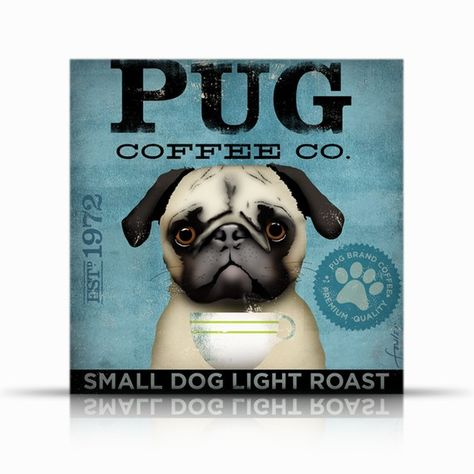 """Pug Metal Sign Wall Plaque Panel Dogs Outdoor Pets 8/"""" x 12/"""" Outdoor Safe"""