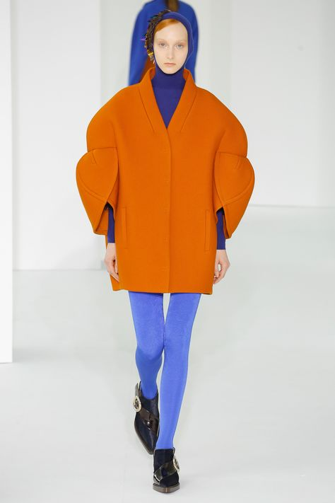 sculptural jacket orange blue leggings See the complete Delpozo Fall 2017 Ready-to-Wear collection.