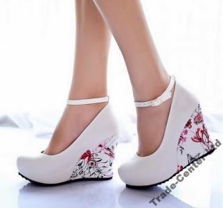 Alladies Fashion Czolenka Na Koturnie As6501 34 41 5549778655 Oficjalne Archiwum Allegro Womens Shoes Wedges Ankle Strap High Heels High Heel Wedges Platform