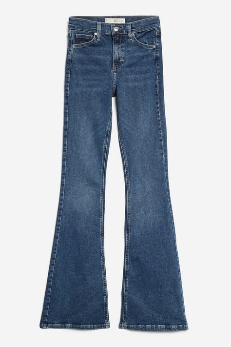 PETITE Indigo Flared Jamie Jeans - Petite - Clothing - Topshop USA