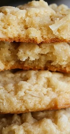 Coconut Cream Cheese Cookies are soft, rich & packed with coconut. This easy coconut cookie recipe is perfect for the coconut lover in your life! Kokos Desserts, Coconut Desserts, Coconut Recipes, Cookie Desserts, Baking Recipes, Cookie Recipes, Dessert Recipes, Flour Recipes, Cookie Jars