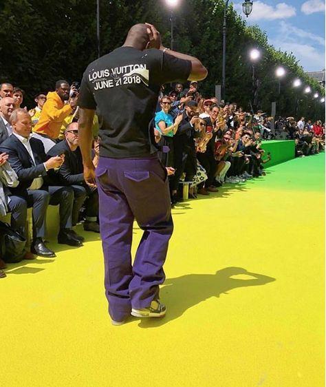''HISTORY'' Congratulations to Virgil Abloh for his first show at Louis Vuitton!  @imranamed  #virgilabloh #louisvuitton #fashionweek #paris