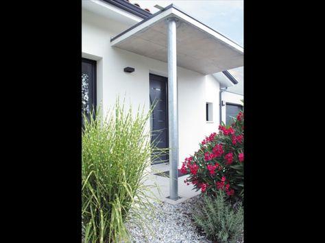Une jolie maison contemporaine de plain pied : porche d\'entrée ...