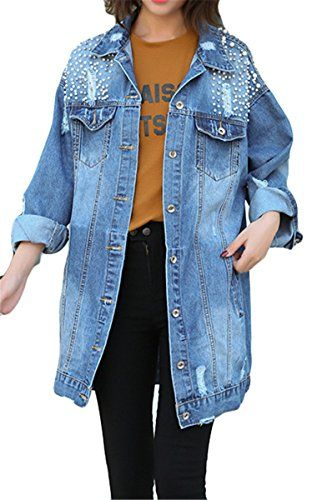 Plus Size Womens Oversized Camo Cropped Denim Jacket Casual Long-Sleeve