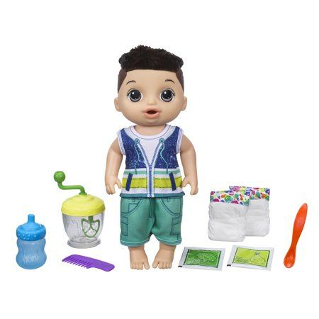 Baby Alive Sweet Spoonfuls Baby Doll Boy Brunette Hair Walmart Com Baby Alive Baby Doll Accessories Baby Dolls