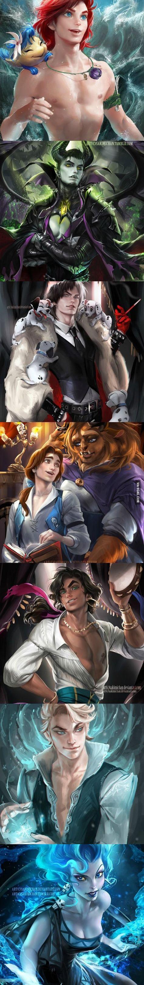 Opposite genders of Disney characters