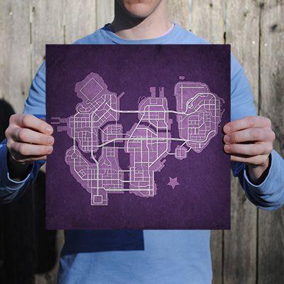 Saints Row: The Third Map Art