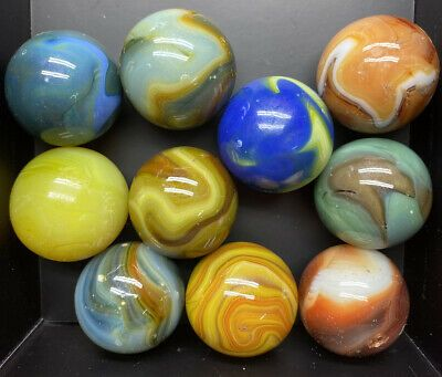 Antique Vintage Marbles Shooters 1 Marbles Mixed Lot Of 10 Nice Group Look In 2020 Marble 10 Things Antiques