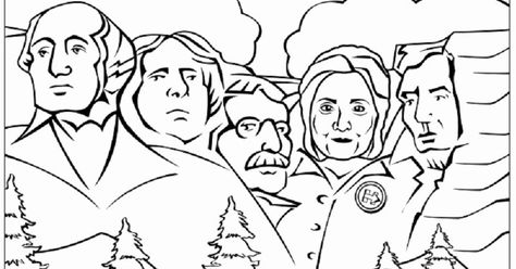 Hillary Clinton Coloring Page