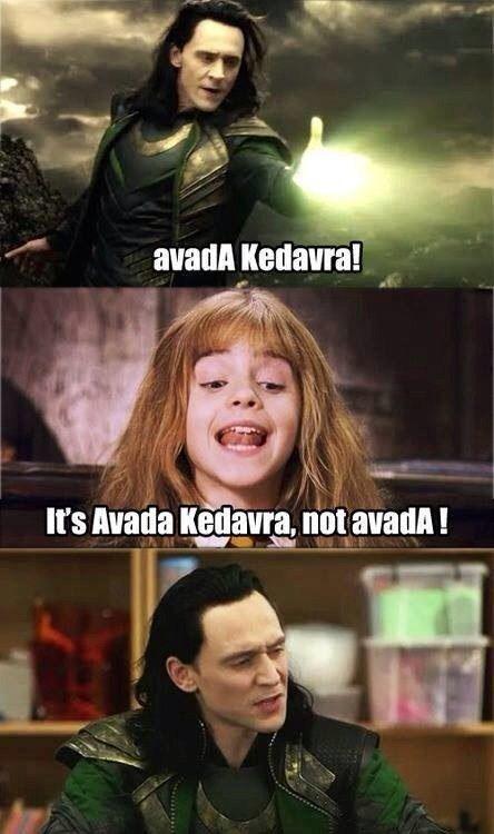 Loki is like I will stab you brat