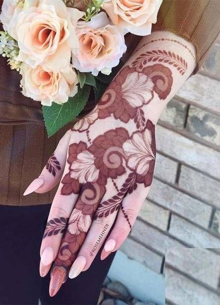 صور نقش الحناء Mehndi Designs Latest Bridal Mehndi Designs Rose Mehndi Designs