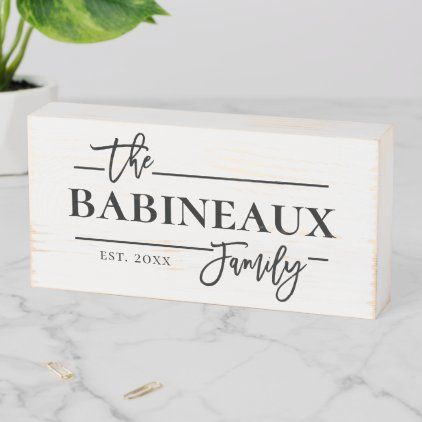 Rustic Farmhouse Family Name Wooden Box Sign Zazzle Com In 2020 Wooden Boxes Rustic Family Sign Box Signs