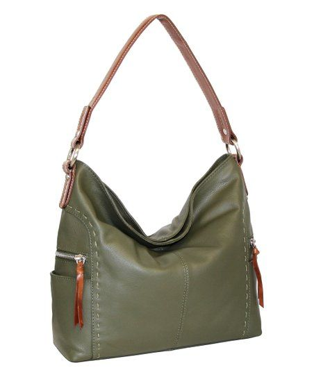 Nino Bossi Handbags Green Leather Kyah Hobo Bag Zulily Leather Hobo Bag Leather Hobo Hobo Bag