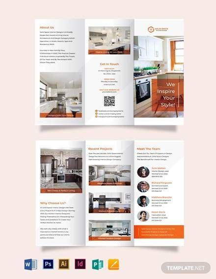 Interior Design Brochure Template Interior Brochures Brochure Design Trifold Brochure