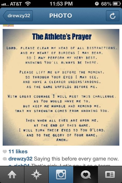 Athletes Prayer Saying This With My Team Before Each Game This Year Athletes Prayer Volleyball Quotes Volleyball