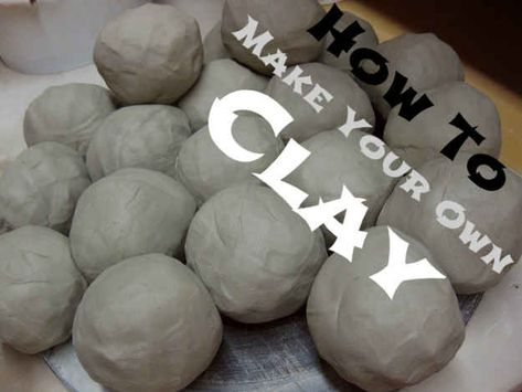 9 Make Your Own Clay is part of diy_crafts - This is a compilation of projects to bring out your inner artist Easy, inexpensive, and absolutely crafty!