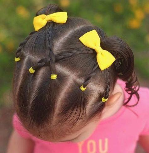 Resultado De Imagen Para Peinados Faciles Para Ninas Con Pelo Corto Penteados Infantis Penteado Infantil Simples Penteados Para Criancas