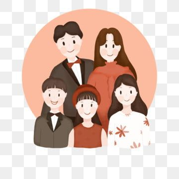 A Family Of Five Family Portrait Reunion Cartoon Family Clipart Character Free Png Transparent Clipart Image And Psd File For Free Download Family Clipart Family Cartoon Portrait Cartoon