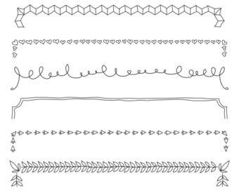 Set of Swashes & Swirls Full Page 46 Original by ArtOutlines